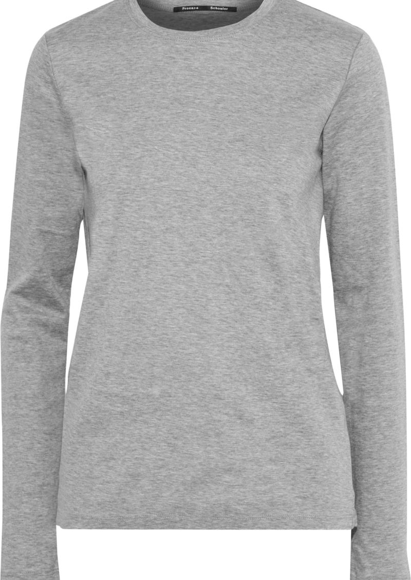 Proenza Schouler Woman Cotton-jersey Top Gray