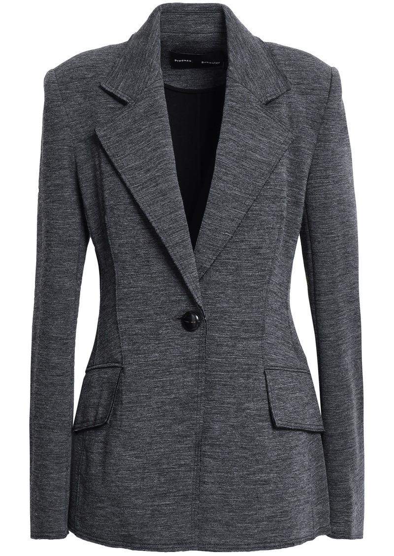 Proenza Schouler Woman Mélange Jersey Blazer Dark Gray