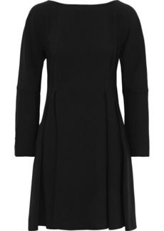 Proenza Schouler Woman Pleated Crepe Mini Dress Black