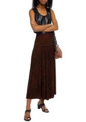 Proenza Schouler Woman Pleated Printed Jersey Maxi Skirt Animal Print