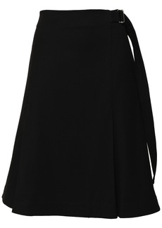 Proenza Schouler Woman Pleated Stretch-wool Twill Skirt Black