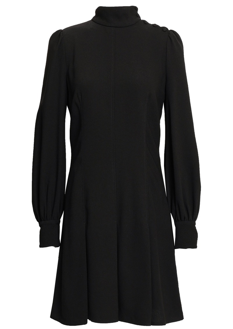 Proenza Schouler Woman Pleated Textured-crepe Mini Dress Black
