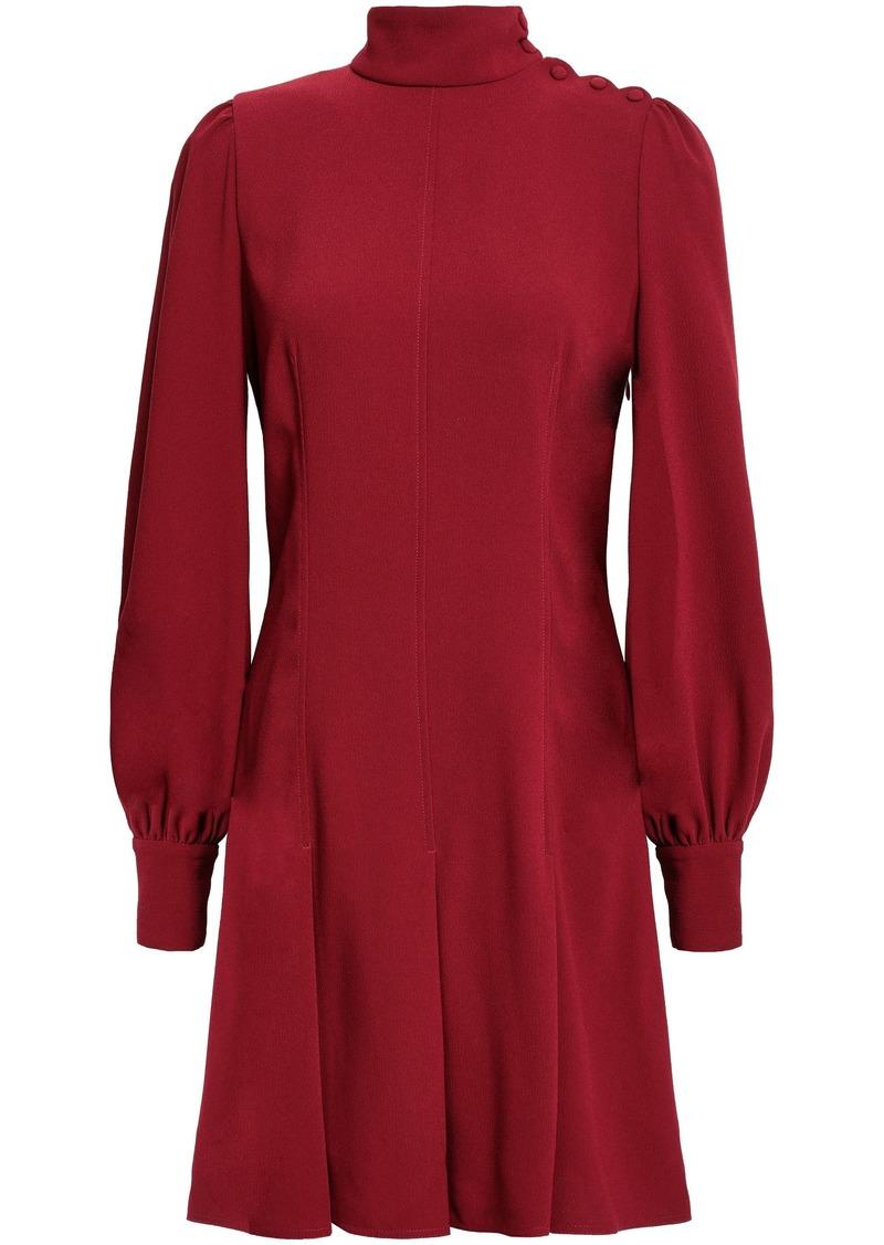 Proenza Schouler Woman Pleated Textured-crepe Mini Dress Claret