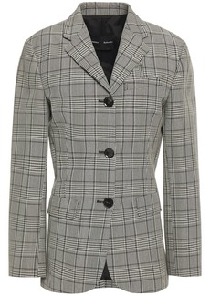 Proenza Schouler Woman Prince Of Wales Checked Wool-blend Blazer Gray