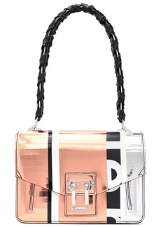 Proenza Schouler Woman Printed And Metallic Leather Shoulder Bag Copper
