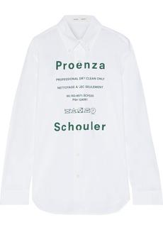 Proenza Schouler Woman Printed Cotton-poplin Shirt White