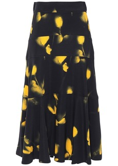 Proenza Schouler Woman Printed Crepe Midi Skirt Black