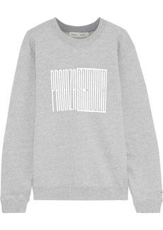 Proenza Schouler Woman Printed French Cotton-terry Sweatshirt Stone