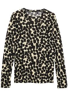 Proenza Schouler Woman Printed Slub Cotton-jersey Top Black