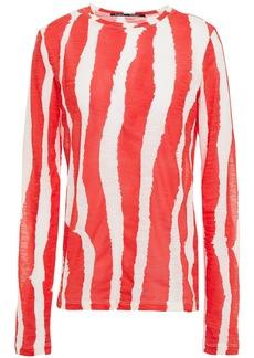 Proenza Schouler Woman Printed Slub Cotton-jersey Top Tomato Red
