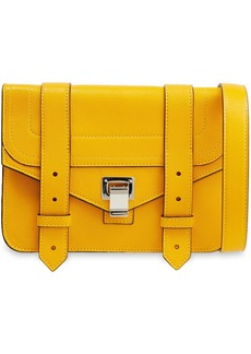 Proenza Schouler Woman Ps1+ Mini Textured-leather Shoulder Bag Marigold