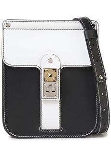 Proenza Schouler Woman Ps11 Box Two-tone Leather Shoulder Bag Black