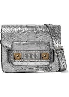 Proenza Schouler Woman Ps11 Metallic Snake-effect Leather Shoulder Bag Silver
