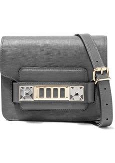 Proenza Schouler Woman Ps11 Tiny Textured-leather Shoulder Bag Dark Gray