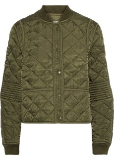 Proenza Schouler Woman Quilted Satin Jacket Army Green