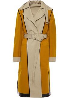 Proenza Schouler Woman Reversible Two-tone Cotton-canvas Trench Coat Beige
