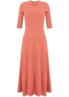 Proenza Schouler Woman Ribbed-knit Midi Dress Peach