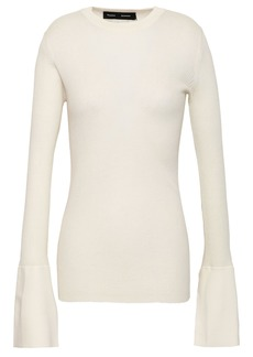 Proenza Schouler Woman Ribbed Silk-blend Sweater Ivory