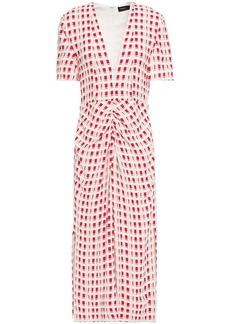 Proenza Schouler Woman Ruched Jacquard-knit Midi Dress Pastel Pink