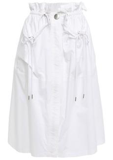 Proenza Schouler Woman Ruffle-trimmed Cotton-poplin Skirt White