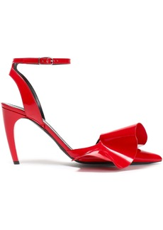 Proenza Schouler Woman Ruffled Patent-leather Pumps Red