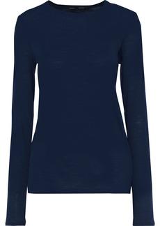 Proenza Schouler Woman Slub Cotton-jersey Top Navy