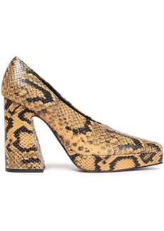 Proenza Schouler Woman Snake-effect Leather Platform Pumps Animal Print