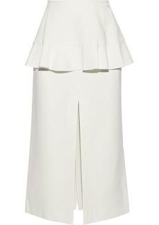 Proenza Schouler Woman Split-front Cady Peplum Midi Skirt Off-white