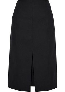 Proenza Schouler Woman Split-front Cotton-blend Skirt Black