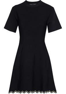Proenza Schouler Woman Stretch-knit Mini Dress Black