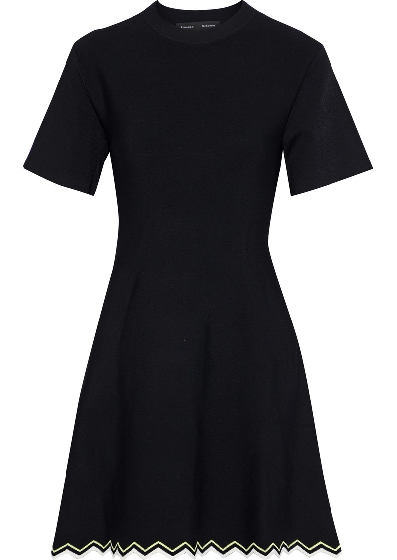 Proenza Schouler Woman Stretch-knit Mini Dress Black