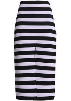 Proenza Schouler Woman Striped Stretch-knit Midi Skirt Lavender