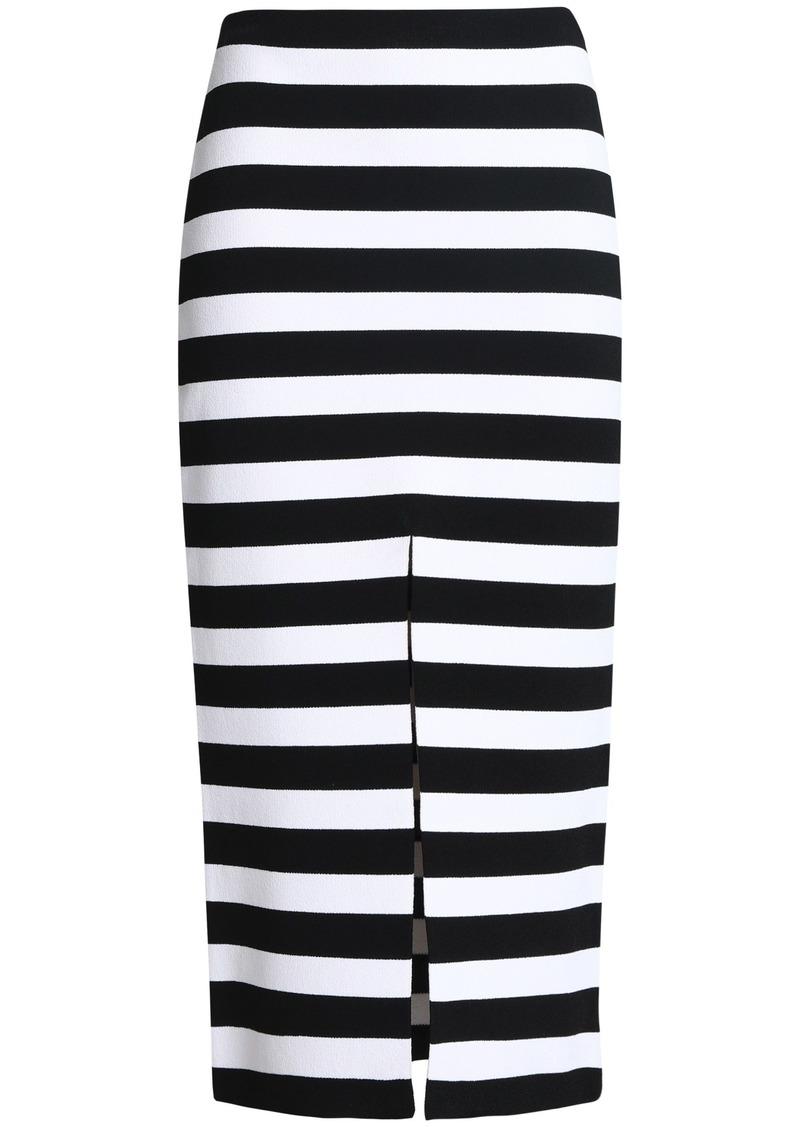 Proenza Schouler Woman Striped Stretch-knit Midi Skirt White