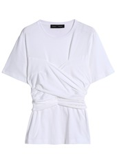 Proenza Schouler Woman Tie-back Cotton-jersey T-shirt White
