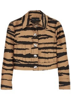 Proenza Schouler Woman Tiger-print Wool And Silk-blend Jacquard Jacket Animal Print