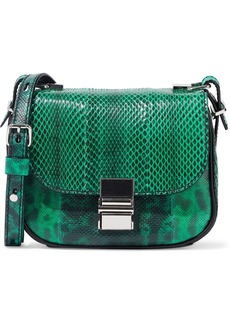 Proenza Schouler Woman Tiny Kent Python Shoulder Bag Jade