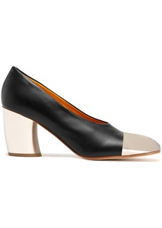 Proenza Schouler Woman Two-tone Leather Pumps Black