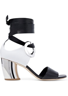 Proenza Schouler Woman Two-tone Leather Sandals Black