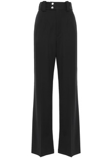 Proenza Schouler Woman Wool-blend Twill Wide-leg Pants Black