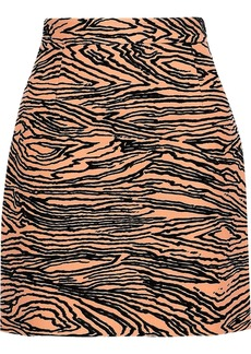 Proenza Schouler Woman Zebra-jacquard Mini Skirt Peach