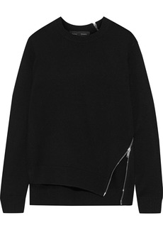 Proenza Schouler Woman Zip-detailed Knitted Sweater Black