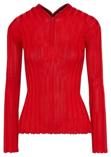 Proenza Schouler Woman Ribbed Silk-blend Top Tomato Red