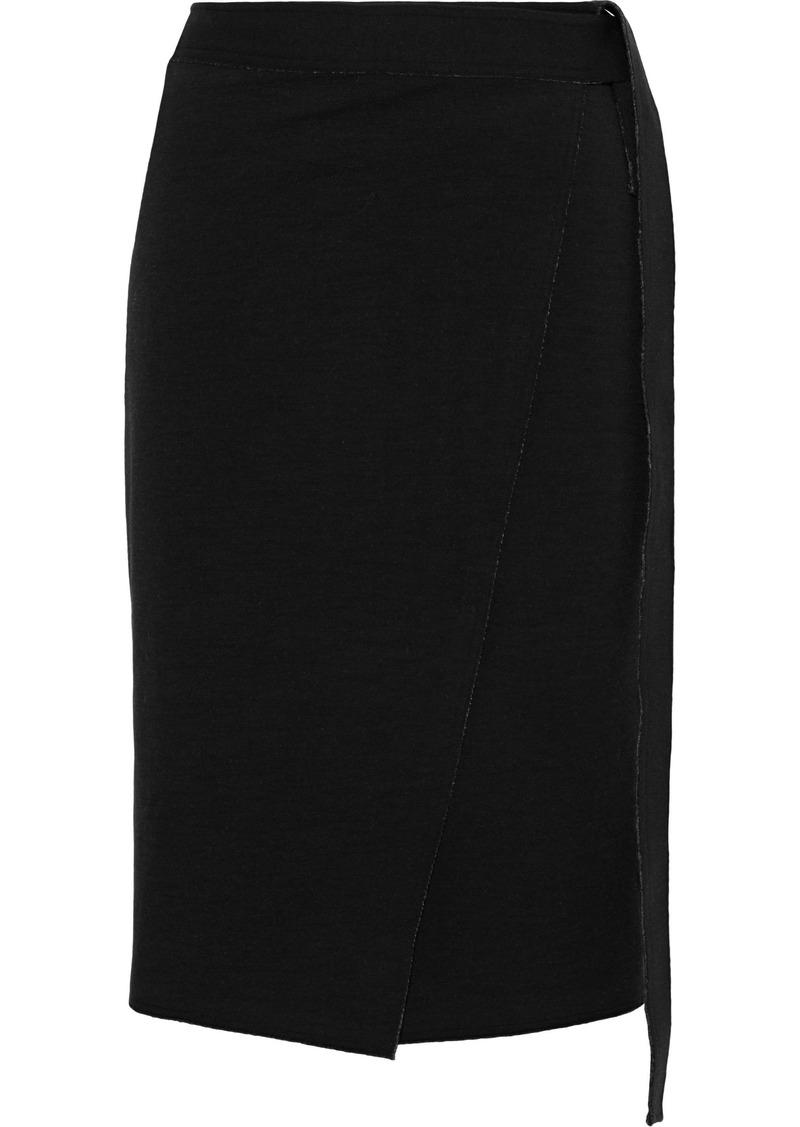Proenza Schouler Woman Zip-detailed Stretch-jersey Wrap Skirt Black