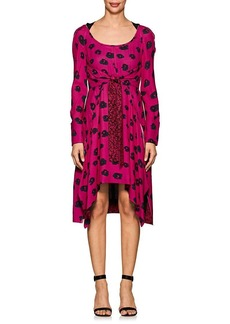 Proenza Schouler Women's Abstract Floral Crepe Asymmetric Dress