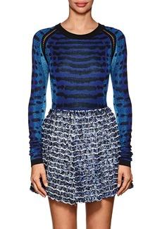 Proenza Schouler Women's Abstract-Pattern Jacquard-Knit Silk Sweater