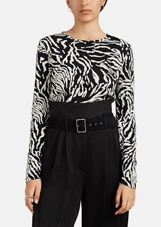 Proenza Schouler Women's Animal-Print Cotton T-Shirt