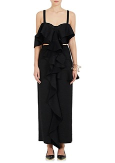 Proenza Schouler Women's Asymmetric Chantilly Lace Gown