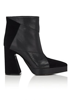 Proenza Schouler Women's Block-Heel Leather Ankle Boots