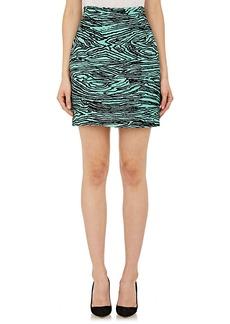 Proenza Schouler Women's Burnout-Velvet Faille Miniskirt