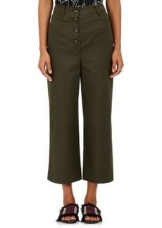 Proenza Schouler Women's Button-Fly Canvas Culottes